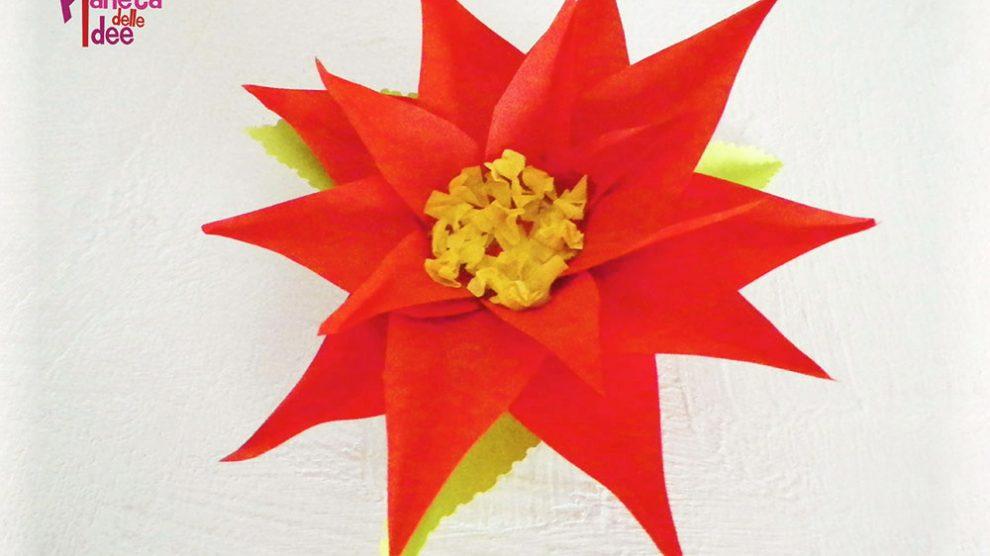 Come Costruire Una Stella Di Natale.Come Fare Una Stella Di Natale Di Carta Pianeta Delle Idee