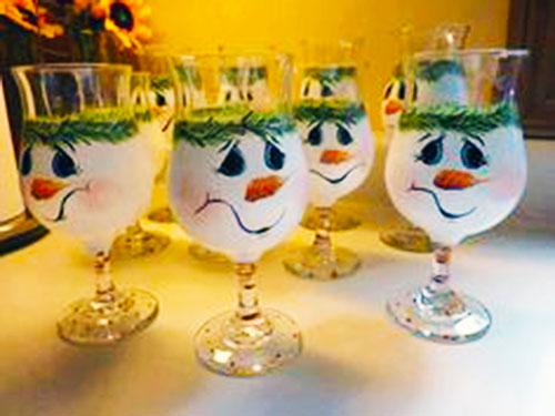 Decorare i bicchieri di vetro per natale pianeta delle idee - Bicchieri decorati per natale ...