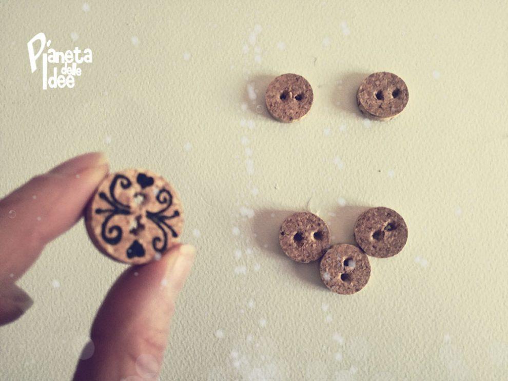 Idee Creative Con Tappi Di Sughero : Bottoni con un tappo di sughero pianeta delle idee