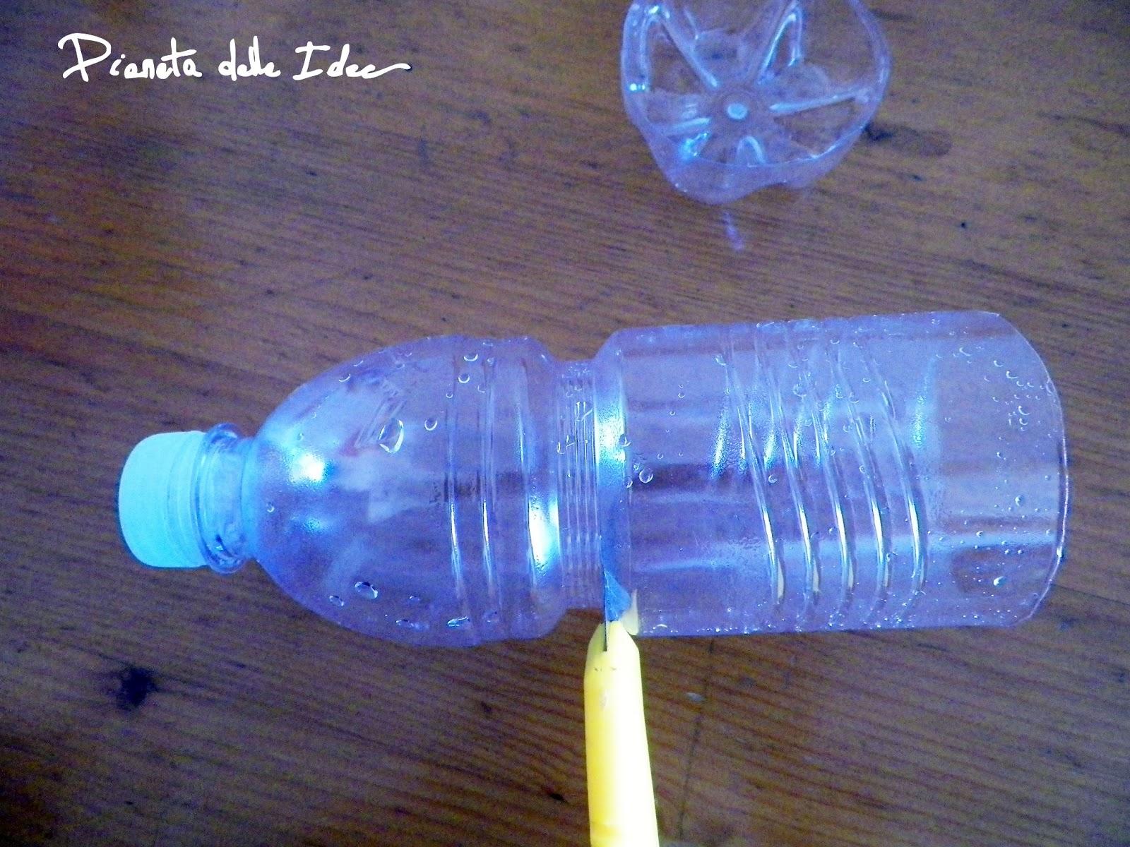 Riciclo creativo: Una bottiglia di plastica che si trasforma in ...