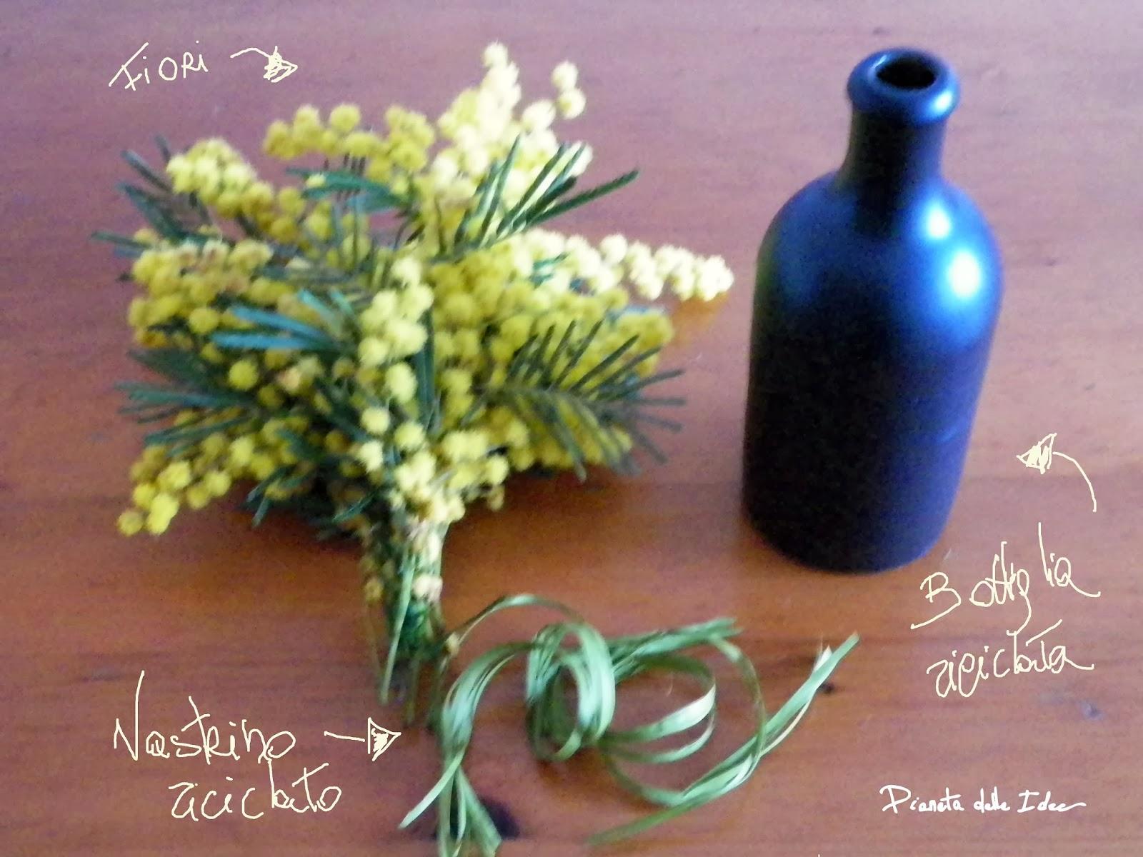 Sfruttando La Bellezza Della Bottiglia Si Può Realizzare In Pochi Secondi  Un Bel. Vaso Portafiori Con Ciò Che Si Ha Disposizione.
