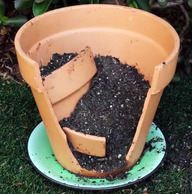 Come costruire mini giardini dai vasi rotti pianeta - Giardini decorati ...