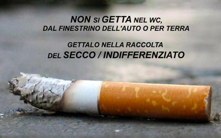 Dove si buttano i mozziconi di sigaretta?
