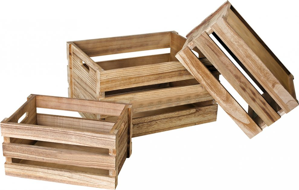 Cassette di legno a bauli e casse per la casa regali di natale