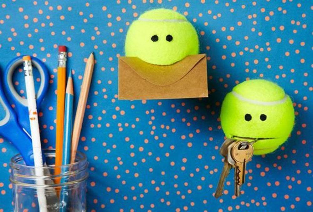 Come riciclare creativamente le palline da tennis usate